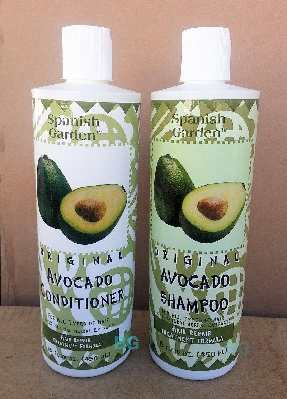 Original AVOCADO Shampoo & Conditioner Set... Hair Repair Treatment Formula by Spanish Garden 16 oz (2 Pack) ... iwgl