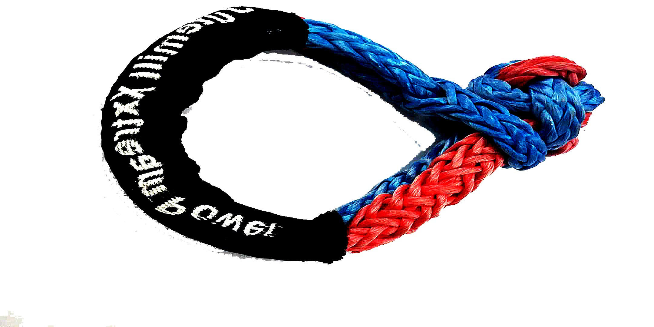 Synthetic UHMWPE recovery Soft Shackle 7/16''| 6''Loop| Breaking strength 34000 LBS| Apt for Heavy Handling: Recovery, ATV/UTV, Marine craft| Blue & Red by Jutemill
