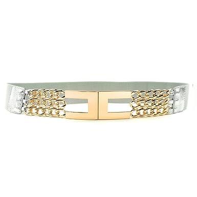 super popolare e2a2a 2dee5 MYB Cintura elastica per donna con fibbia dorata - taglia unica - larghezza  45mm - diversi colori disponibili