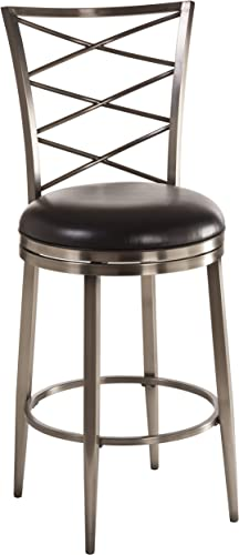 Hillsdale Furniture Harlow Swivel Bar Stool, Antique Pewter