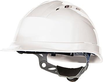 Venitex Quartz IV - Casco de seguridad con ranuras de ventilación, color blanco