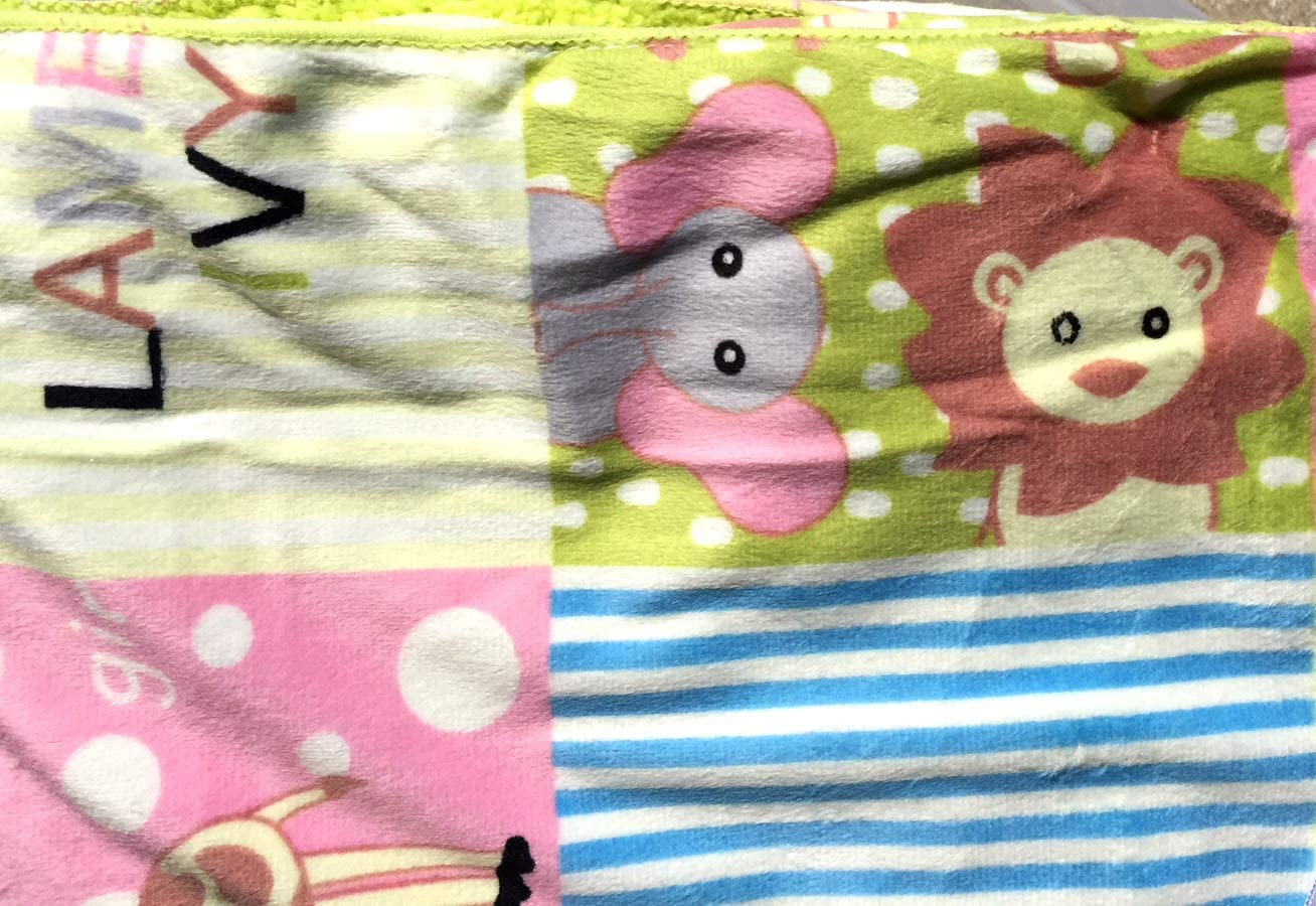 Pink Damask Baby Blankets For Girls Anti-Pilling Warm and Cozy Sherpa Backing Extra Soft Micro Plush Fleece Blanket Multiple Designs and Themes