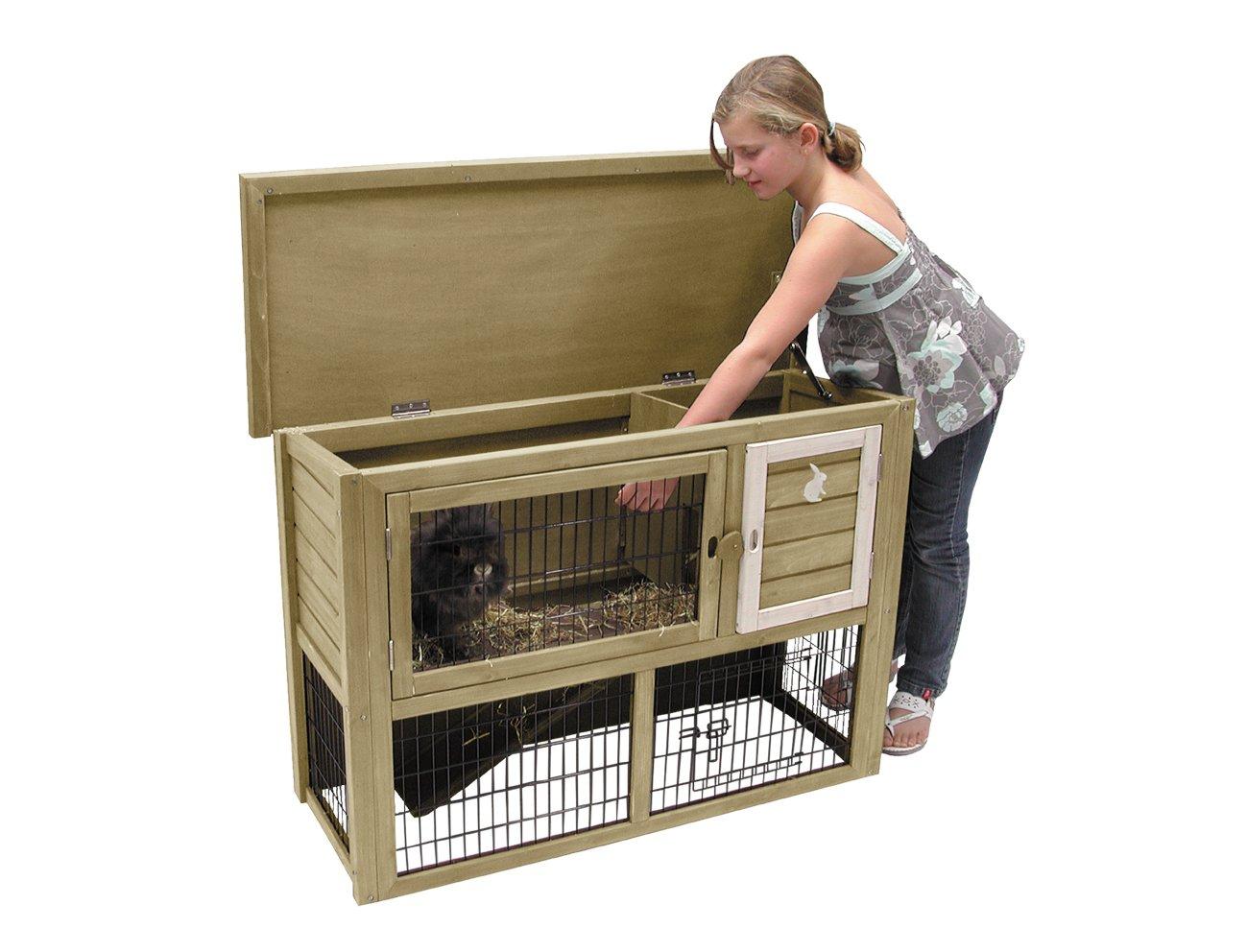 risparmiare sulla liquidazione Nobby in legno a piani, in legno con con con tetto apribile per coniglio porcellino Ferret  tempo libero