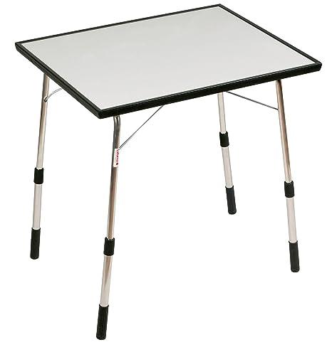 Lafuma Table de camping pliante, Hauteur réglable, 72,5 x 60,5 cm, Étanche, Louisiane, Couleur: Carbon, LFM1490 3631