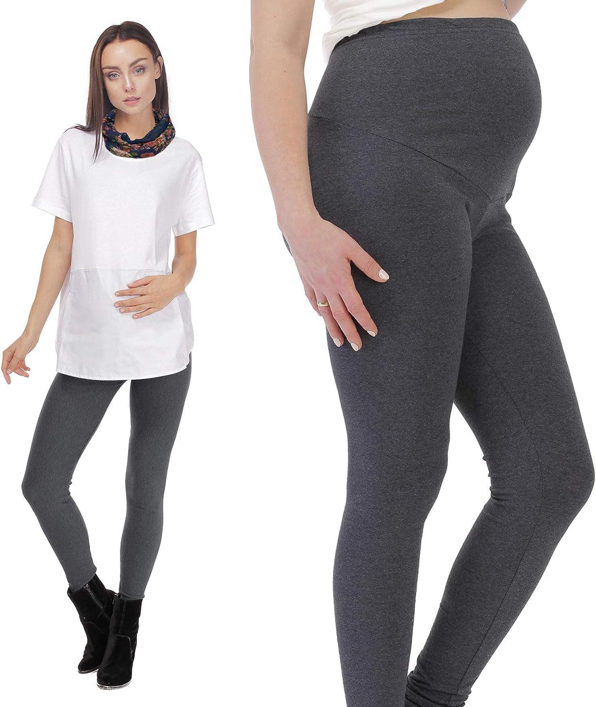 Petit Amour Womens Long Maternity Leggings Warm Winter Cotton