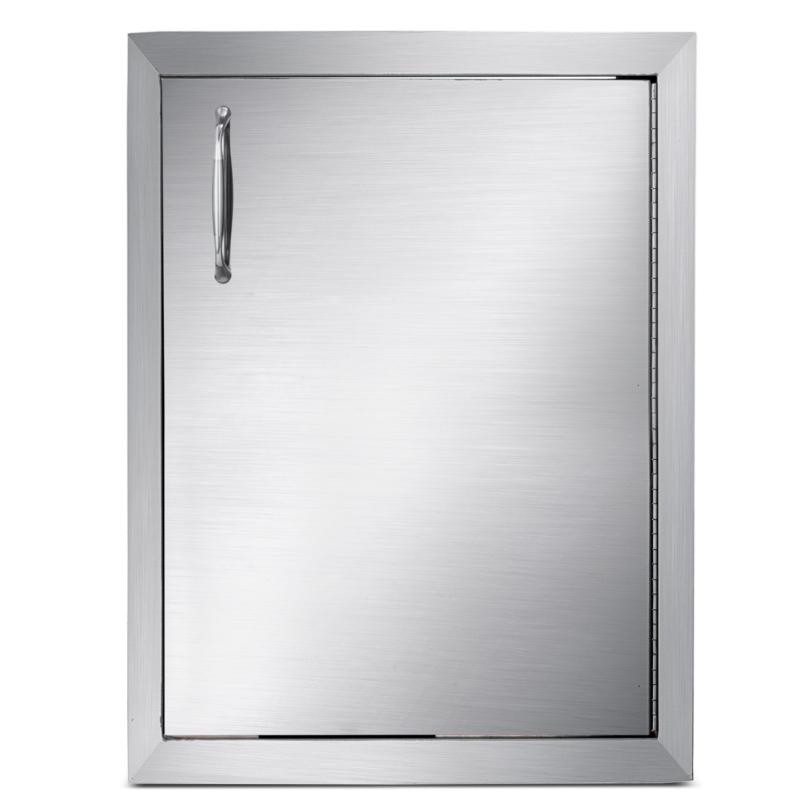 Mophorn Outdoor Kitchen Access Door 16''x 22'' Single Wall Construction Stainless Steel Flush Mount for BBQ Island, 16inch x 22inch,