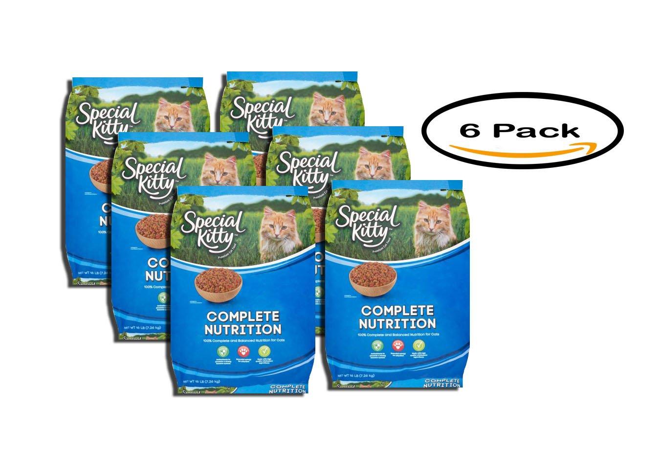 PACK OF 6 - Special Kitty Premium Original Cat Food, 16 lb