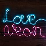 Make Your Own Neon Effect Sign 3M Neon String Light Message Kit BLUE