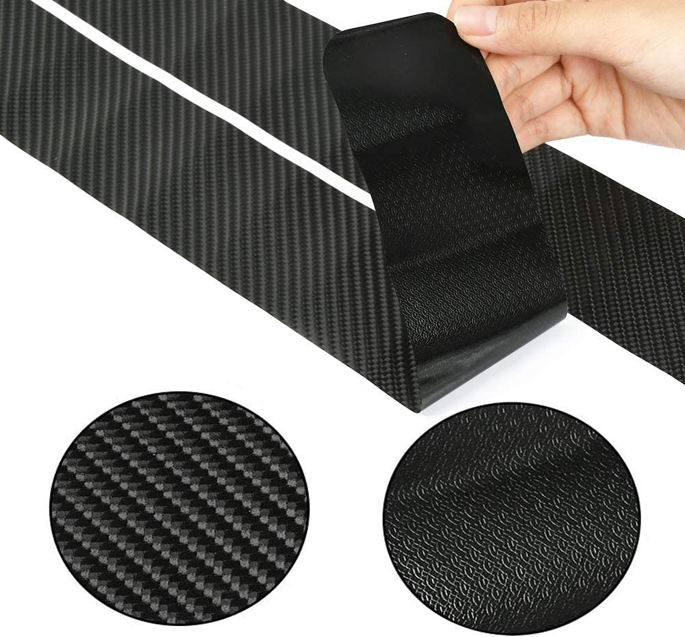 Rubber Buffer Paint Edge Protection 6 Car Threshold Stickers Door Entrance Pedal Scratch-Resistant Protective Film Universal Door Protection Foot Pedal Anti-Pedal Protection