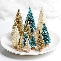 ILOVEDIY 5 Stück Weihnachtsbaum Künstlich Klein Weihnachtsdeko(Silber, Höhe 6cm-5Stück)