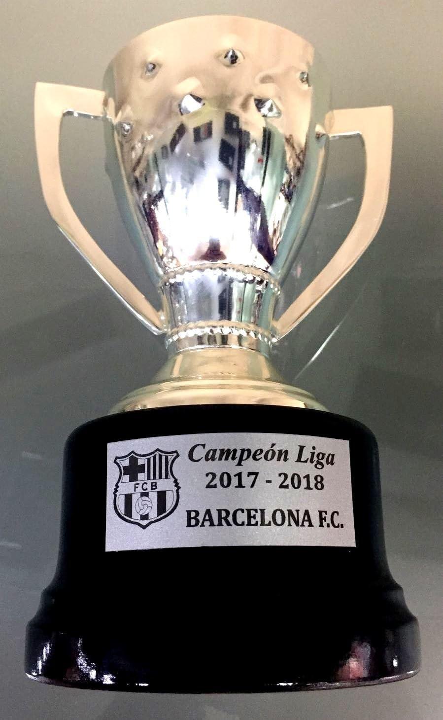 Trofeos Liga Replica FC Barcelona 2017-2018 Trofeos de Futbol Titulos FC Barcelona Campeón de Liga FC Barcelona: Amazon.es: Deportes y aire libre