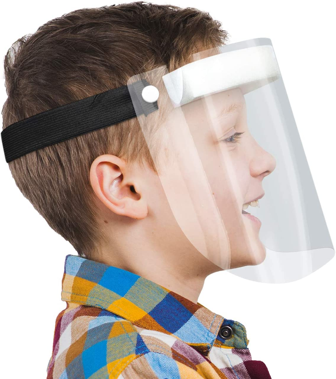 Made in Germany HARD 1x visor face protection Face Shield with Anti Fog Black certified Visor for kids