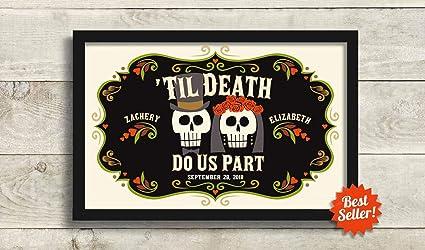 Amazon Com Arvier Skull Decor Wedding Gift For Couple