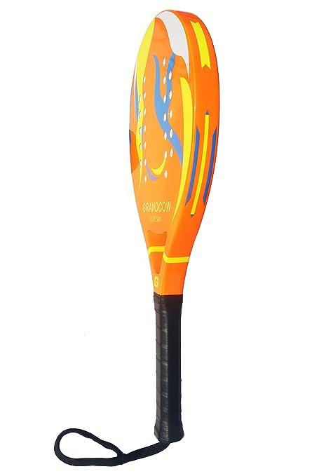 GRANDCOW Beach Paddle/Padel Tennis Racket Carbon Fiber Surface 30mm Depth EVA Memory Foam Core POP Tennis Paddle Rackets with Extra Long Handle