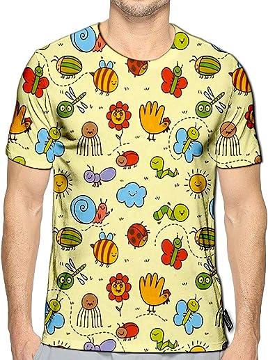 YILINGER 3D Printed T-Shirts Cute Fruits Short Sleeve Tops Tees