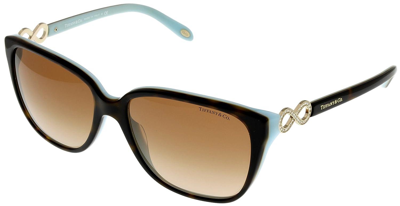 05c90059362 Amazon.com  Tiffany   Co. Sunglasses Square Womens Havana TF4111B 81343B   Clothing