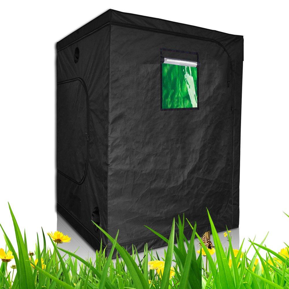 TopoLite 24''x24''x48'' 32''x32''X63'' 36''x20''x63'' 36''x36''x72'' 48''x24''x60'' 48''x24''x72'' 48''x48''x80'' 60''x60''x80'' Grow Tent Reflective Mylar for Hydroponic Indoor Planting (60''x60''x80'' metal corner/ window)