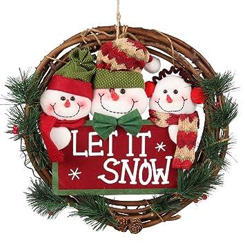 christmas wreath for front door d fantix 14 inch small door wreaths christmas decorations - Small Christmas Door Decorations