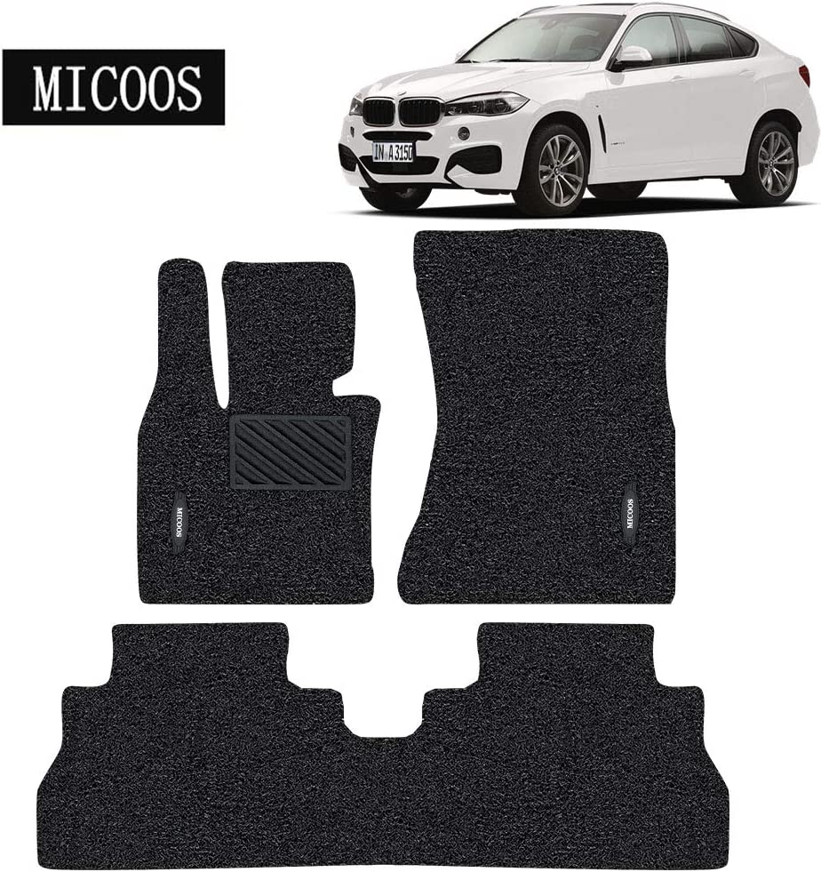 2014-2018 Black All Weather Heavy Duty Floor Mat Set Waterproof Stain-Resistant MICOOS Compatible with Car Floor Mat Carpet for BMW X6 F16