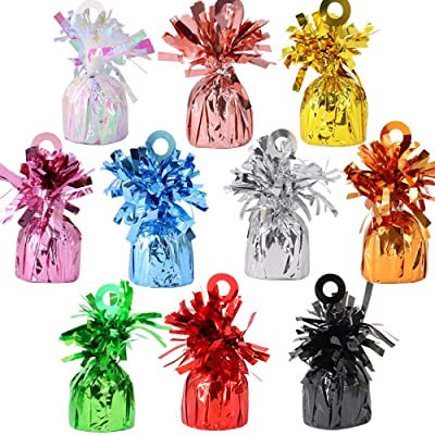 Time to Sparkle 12pcs Foil Helium Latex Balloon Weights Ideal Party Decoración Accesorio, Weight-Azul Bebe: Hogar