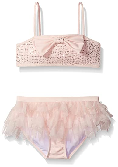 b168b7bab7023 Amazon.com  Kate Mack Girls  Twinkle Toes Two Piece Swimsuit with ...