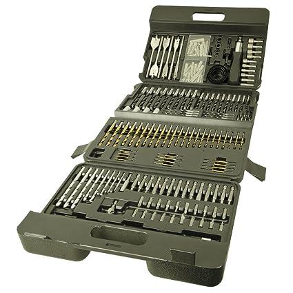 Work Expert - Maletín con 205 puntas de destornillador y brocas ...