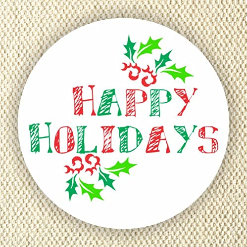 Christmas Stickers.Happy Holidays Favor Stickers Enveloped Seal Stickers Merry Christmas Stickers