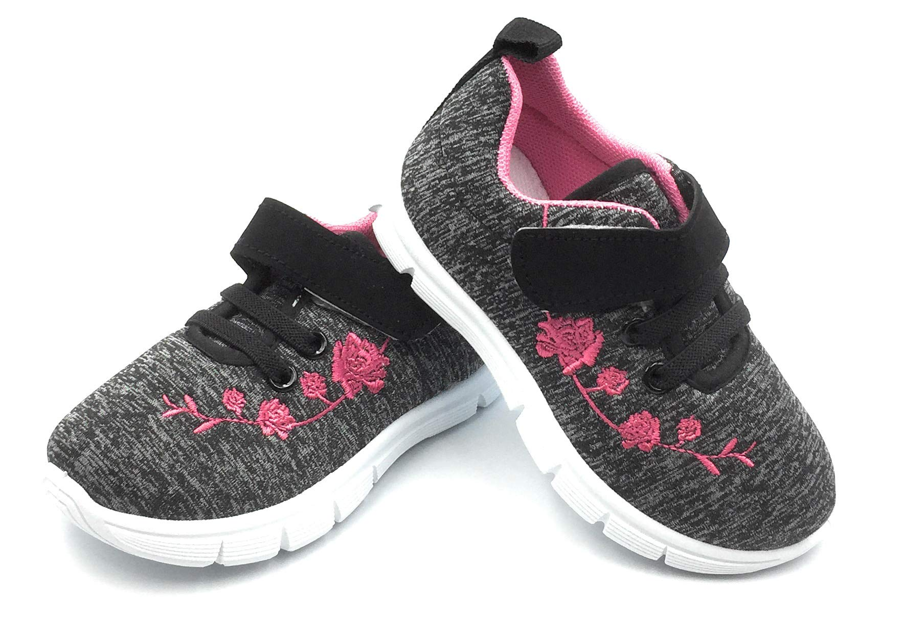 Bless Children Baby Toddlers Boy's Girl's Breathable Fashion Sneakers Walking Running Shoes,Black1207.Size 4