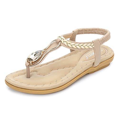 5e84a8406 Echo Women s Sandals- Bohemian Summer Beach Ladies Flat Shoes Women ...