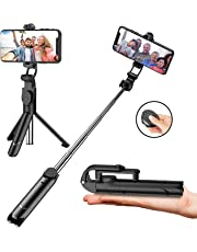 Efuytech Selfie Stick Tripod, Extendable Bluetooth Selfie Stick with Wireless Remote, 3 in 1 Multifunctional Selfie Stick Monopod For iPhone X XS XR 8 Plus 7 Plus 6s AndroidHuawei SamsungGalaxy