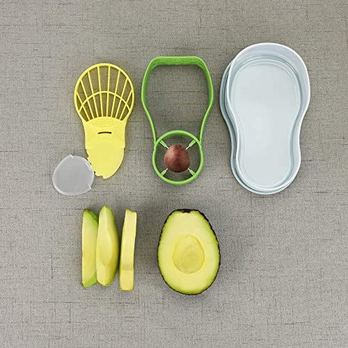 Kinsy Avocado Slicer, Avocado Saver 5-In-1 Multi-Functional Avocado Tool Set