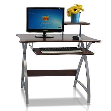 furinno fnbl22005 besi new office computer desk dark wood grain