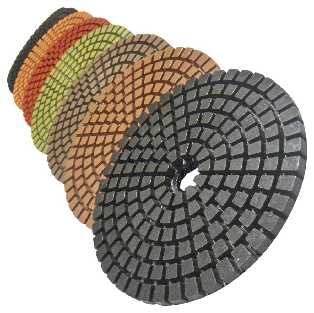 STADEA Premium Grade Wet 5' Diamond Polishing Pads Set For GRANITE MARBLE STONE Polish Shop N Save Diamond Tools DPPW05STDA503K7P