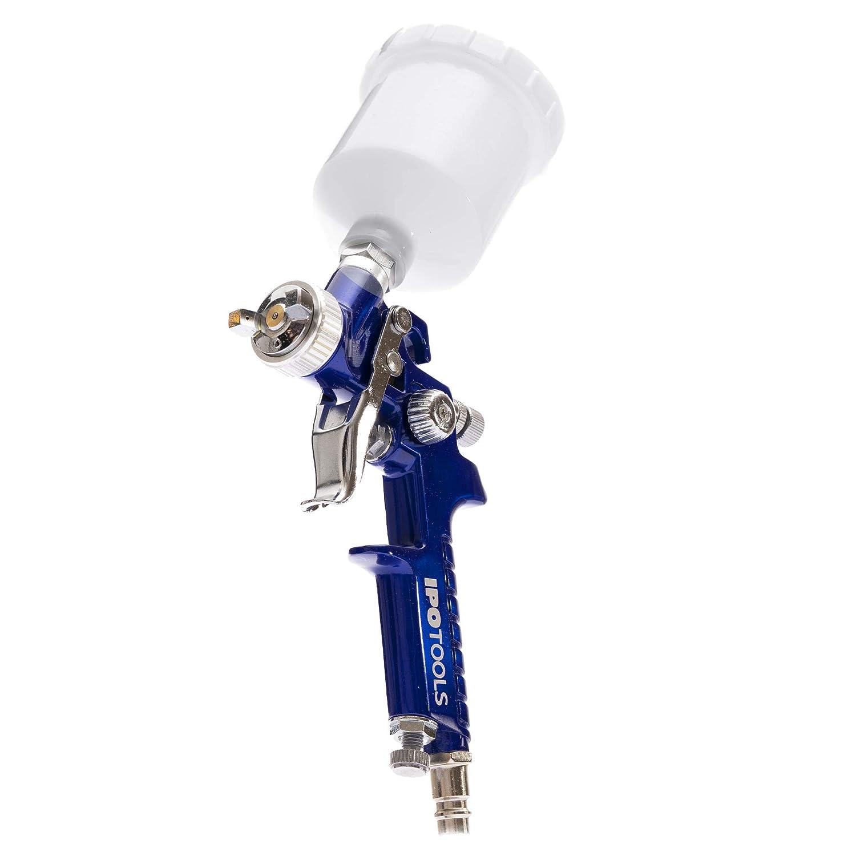 2x D/üsensatz 0,5mm /& 1,0mm Mini HVLP Lackierpistole Spritzpistole H2000 Profi Farbspr/ühsystem mit 125 ml Plastikbecher und Edelstahld/üse 0,8mm