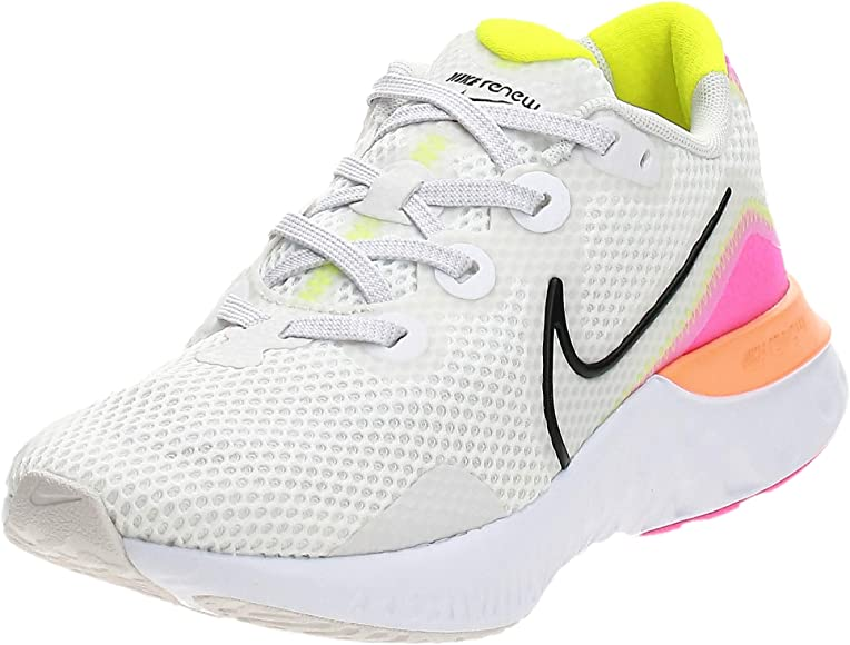 Nike Renew Run, Running Shoe Womens, Platinum Tint/Black-White-Pink Blast, 36.5 EU: Amazon.es: Zapatos y complementos
