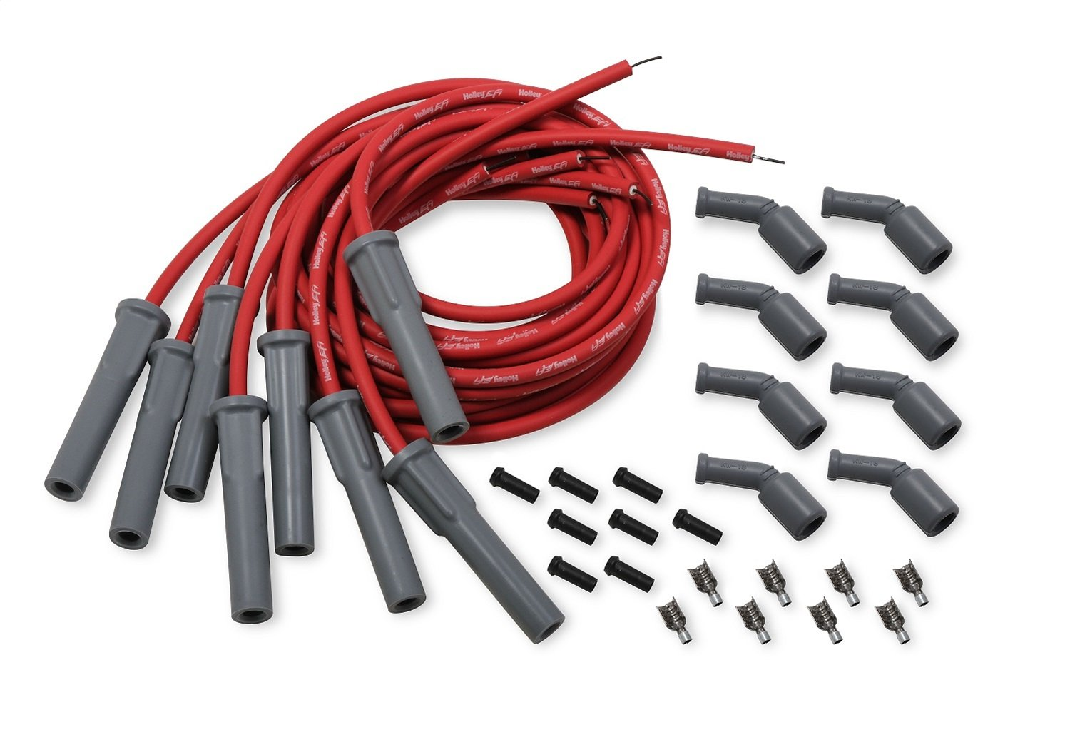Amazon.com: Holley 561-112 Spark Plug Wire Set Cut To Fit ... on spark plug solenoid, spark plug wire, spark plug module, spark plug insulator, spark plug brackets, spark plug housing, spark plug shift knob, spark plug relay, spark plug plugs, spark plug cables, spark plug cords, spark plug repair, spark plug coil test, spark plug testing, spark plug battery, spark plug mounts, spark plug fuse, spark plug filter, spark plug operation, spark plug pump,