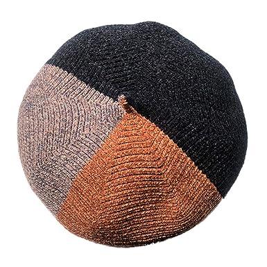 910b9c4d377 Lenfesh Women s Winter Warm Assorted Beret Artist Beanie Hat