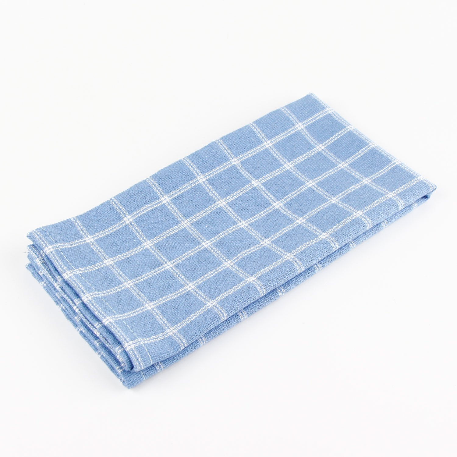 Navy - for Events /& Home Use INFEI Soft Double Striped Checked Cotton Dinner Cloth Napkins 17 x 17 inches Set of 12