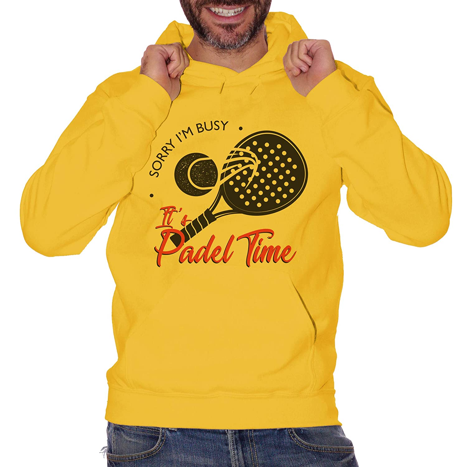 CUC Sorry Im Busy Its Padel Time Sport - Sudadera Gialla Large ...