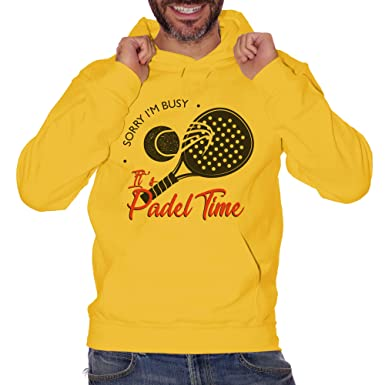 CUC Sorry Im Busy Its Padel Time Sport - Sudadera Gialla Medium ...