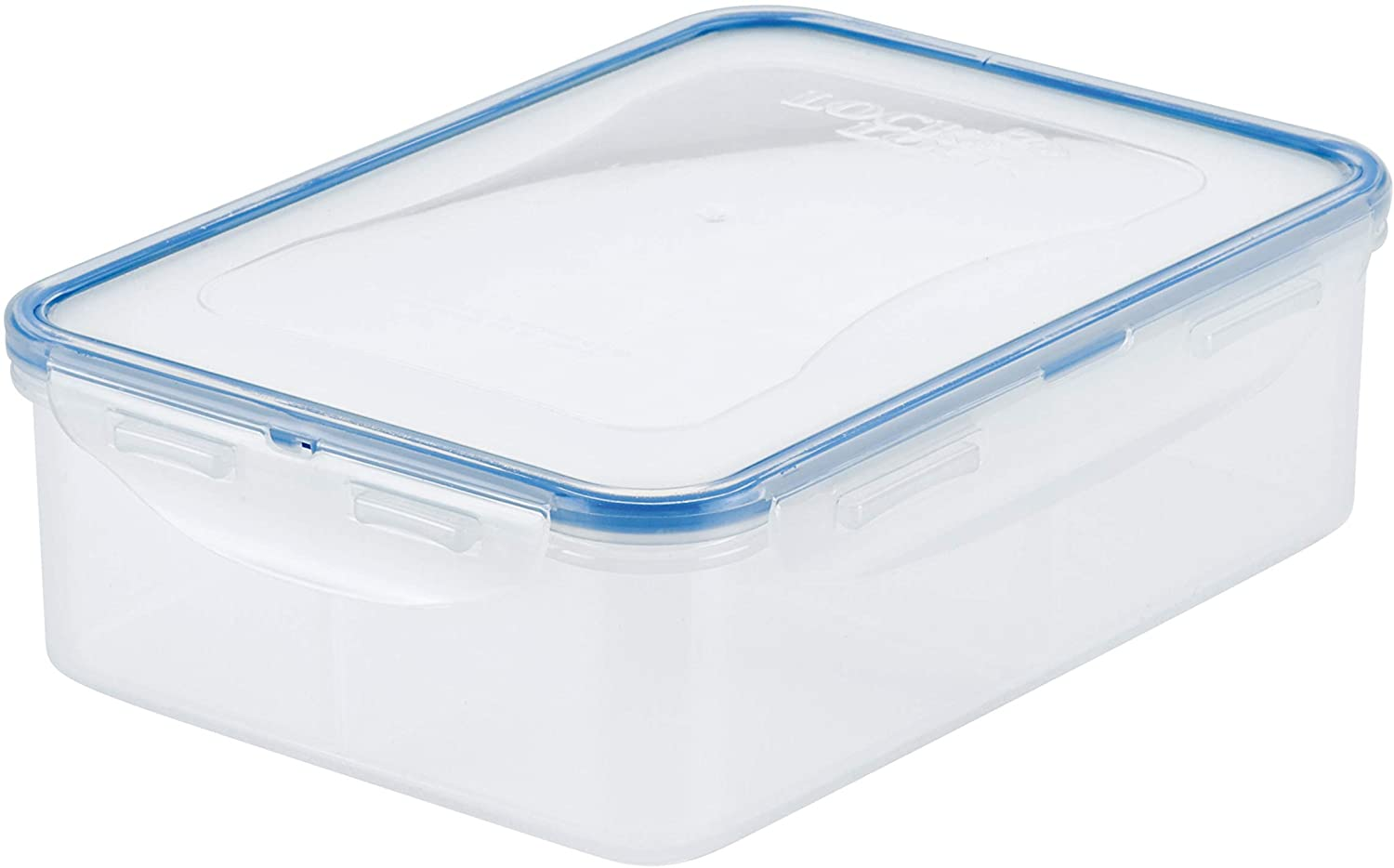 LOCK & LOCK Easy Essentials Food Storage lids/Airtight containers, BPA Free, Rectangle-54 oz-for Snacks (4 Section), Clear