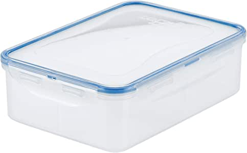 Lock & Lock Classic Stackable Airtight Rectangle Food Container, 1.6L with Divider