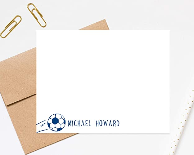 photo relating to Printable Stationary for Kids identified as : Tailored Football Stationery for Small children, Camp