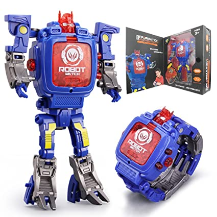 Amazon Com Robot Watch Toys 2 In 1 Robot Watch Deformation Robot