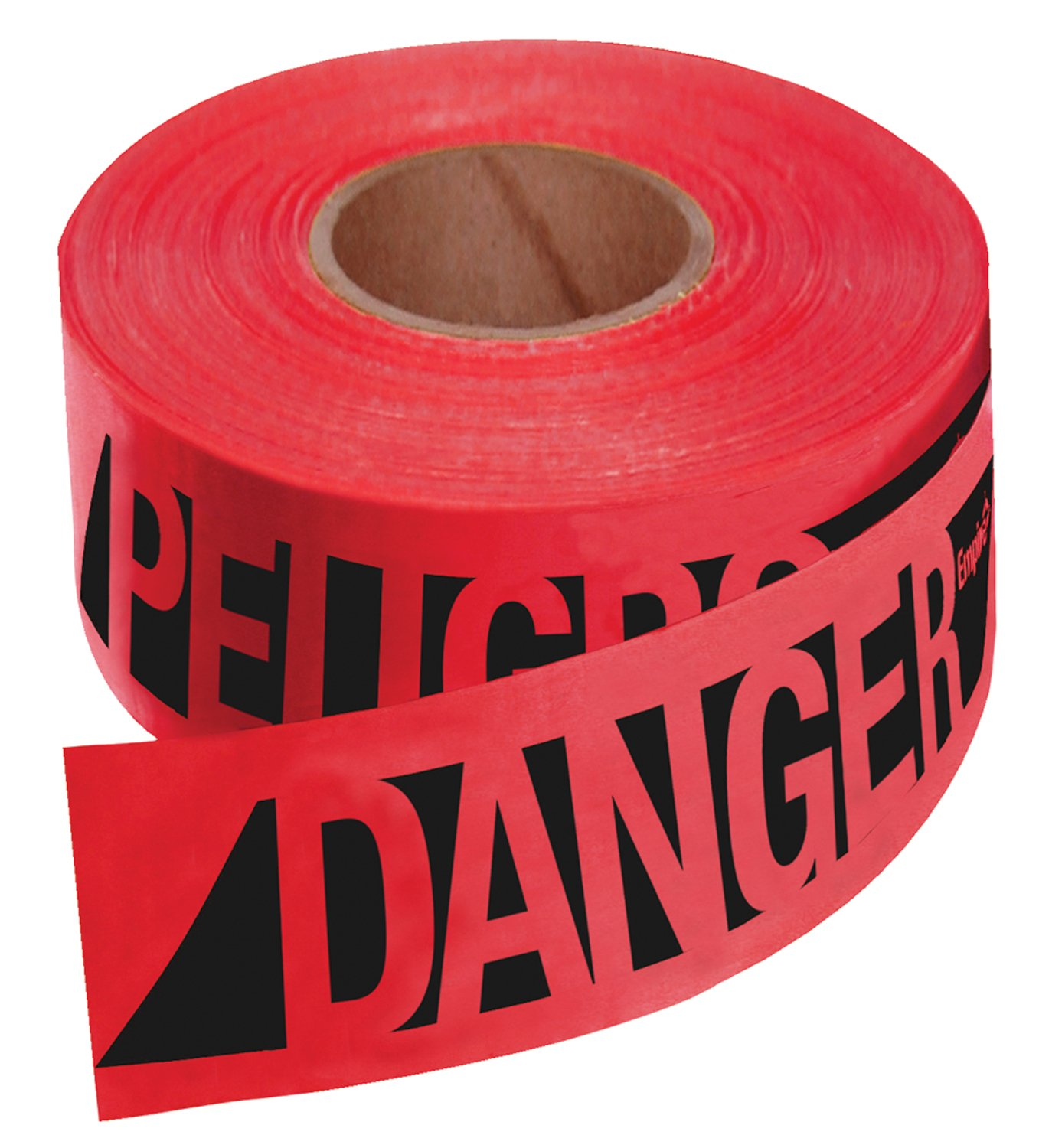 Empire 76-0604 Reinforced Construction Grade Danger/Peligro Tape Red with Black Ink, 500-Feet by 3-Inch by Empire Level