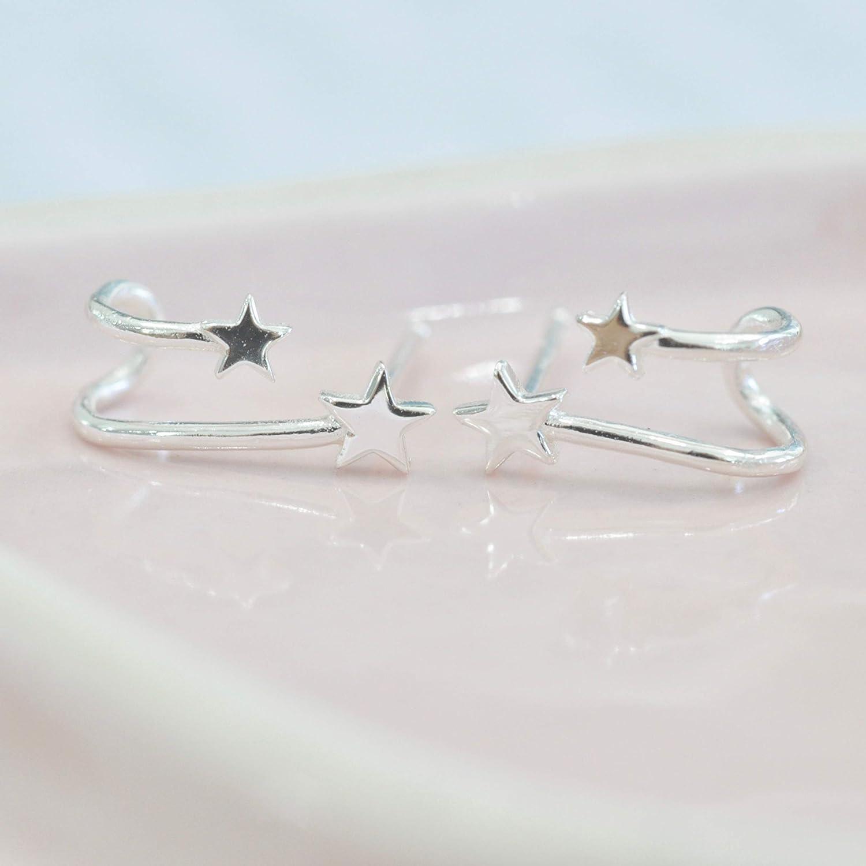 Shooting Star Earrings in Sterling Silver 925