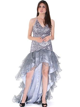 Amazon.com: Sung Boutique Women\'s High Low Sequin Prom Dress S ...