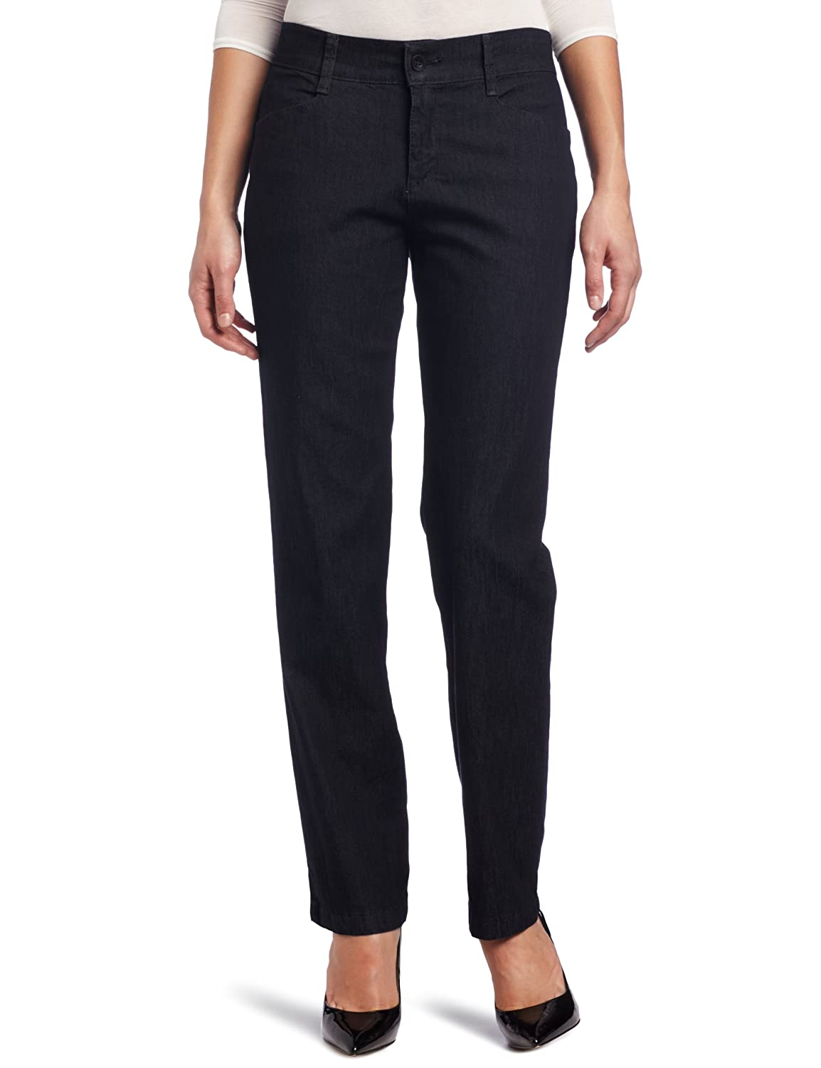 LEE Women's Relaxed Fit Plain Front Straight Leg Pant Lee Women's/Junior's