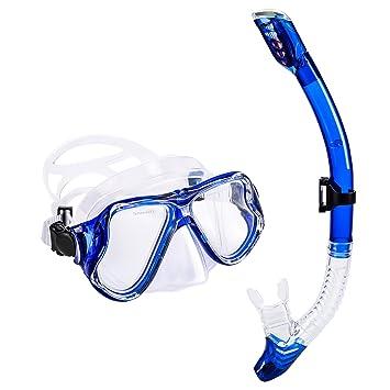 Set de Snorkel - UPhitnis Anti-Niebla Pack de Snorkel, Kit de Máscara y