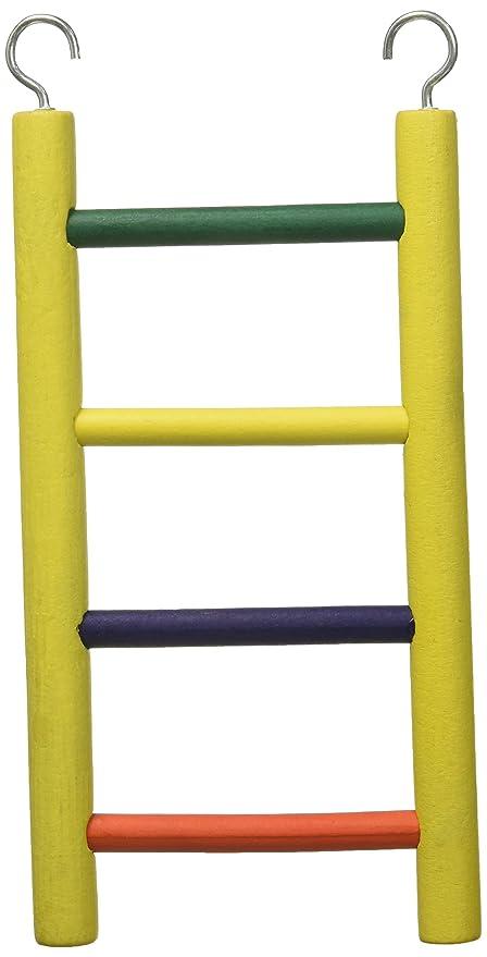 Prevue Mascota Productos bpv01134 Carpintero Creaciones Madera pájaro Escalera con 4 peldaños, 20,3